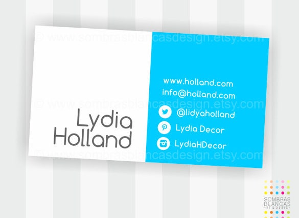 premade business card design social bicolor1