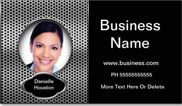 professional add photo silver classy business double sided standard business cards
