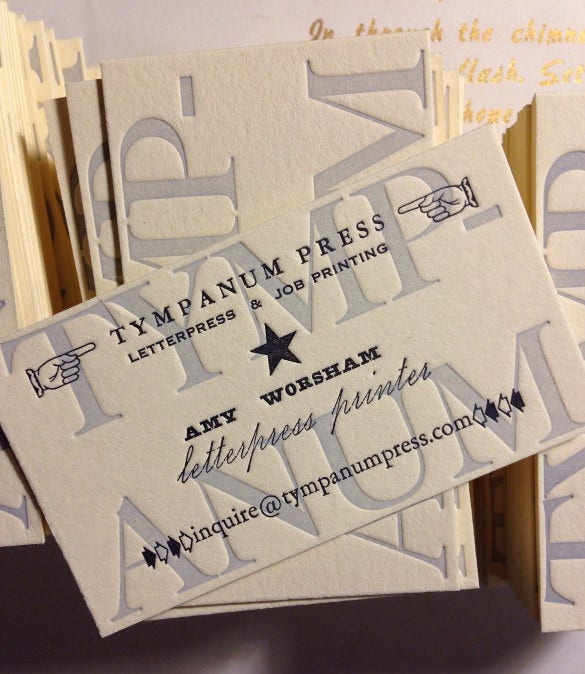 letterpress business cards 100 in any color single impression