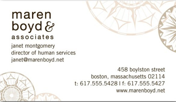compass charm business cards