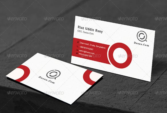 clean red business card