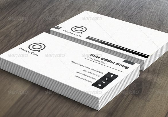 white gray clean business card