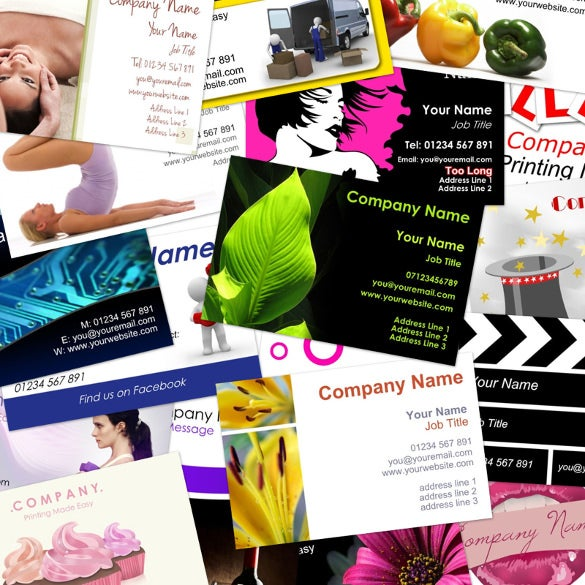 business cards double sided wide range of templates or upload your own