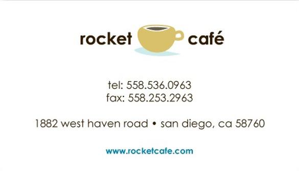 fun stamp card coffee business cards