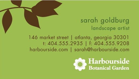 spring leaves business cards