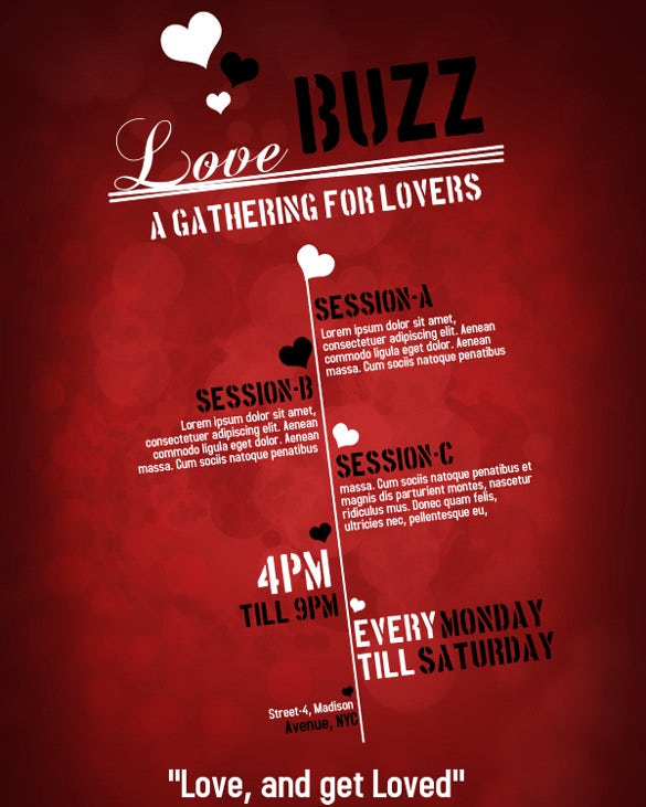 a new love design free flyer online editable