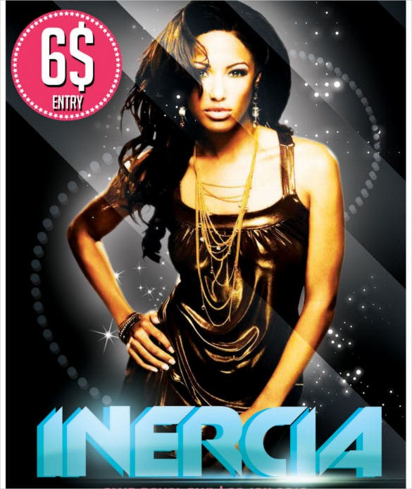 inercia flyer template free psd download