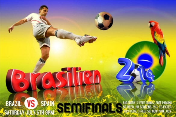 football new design flyer free customize online download