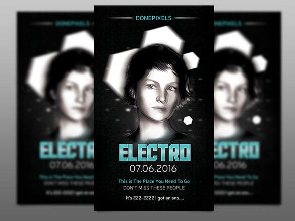 the electro free flyer template download psd