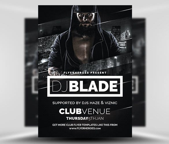 blade dj flyer template psd free download