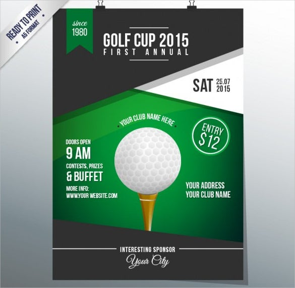 golf cup flyer template pdf free download