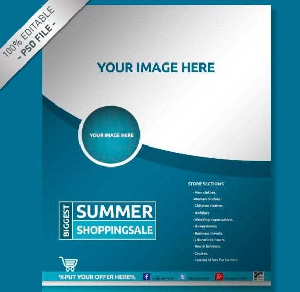 brochure mock up flyer free template