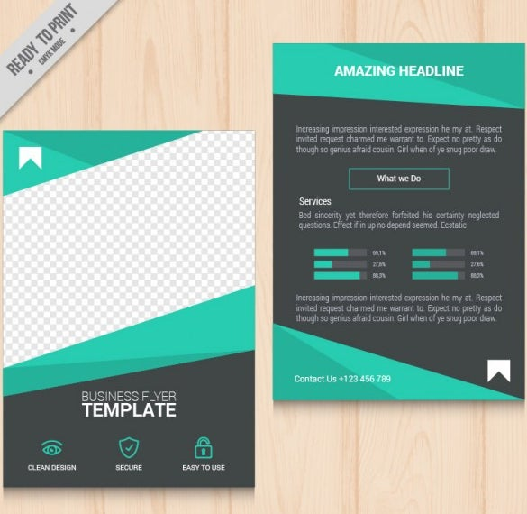 free download geometric green business flyer template
