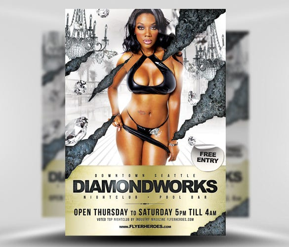 diamondworks free flyer template psd download