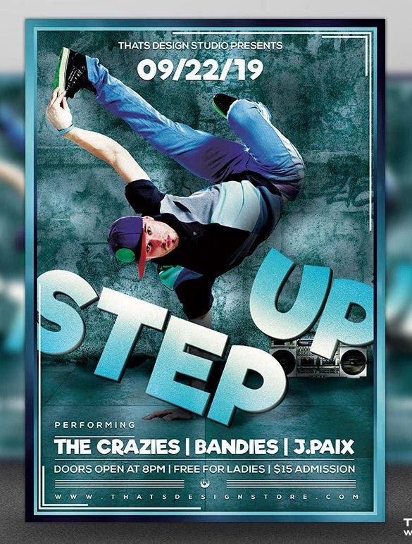 step up free psd flyer template download