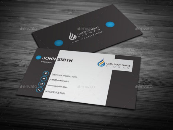33 cool business cards free psd eps illustrator format download