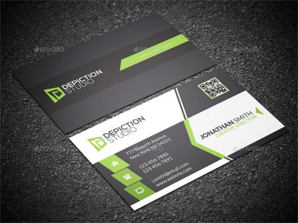 Creative Cool Business Card Psd Format