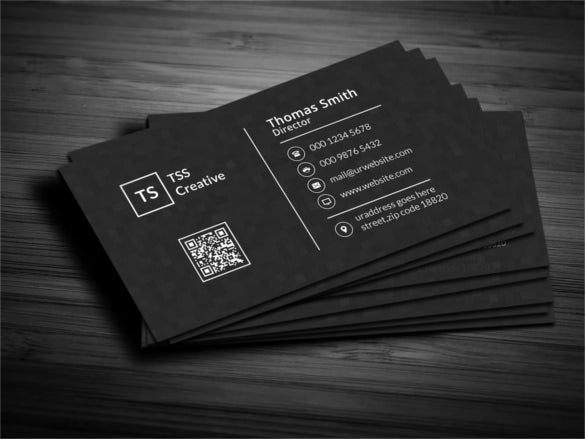 modern dark pixels business card template psd - Template For Business Cards