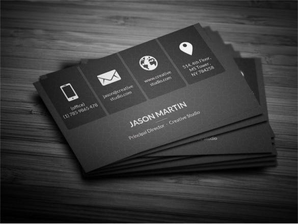 download metro dark corporate business card template - Template For Business Cards