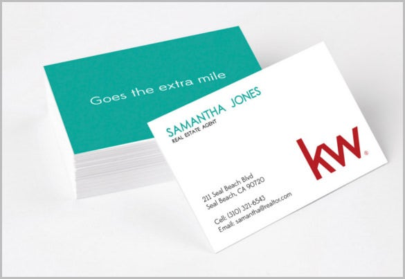 extra mile realtor business cards template