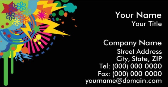 color blast double sided standard business cards