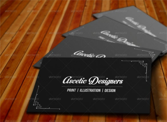 simple cool business card template psd design