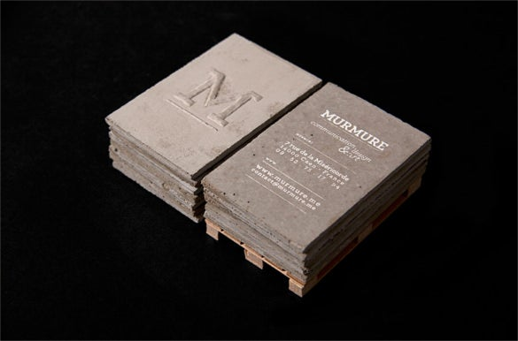 concrete cool business cards template pattern