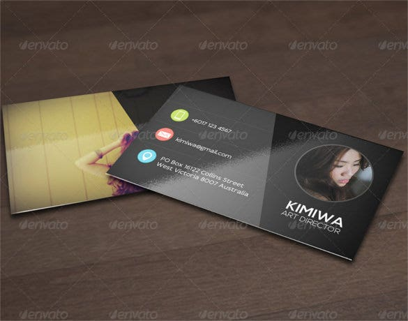 customizable and editable cool business card psd download