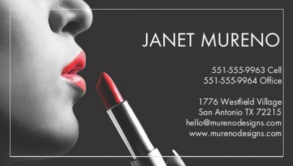 a quick touch up business card template