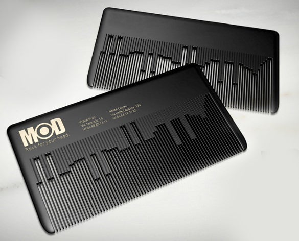 musical comb business card template pattern download