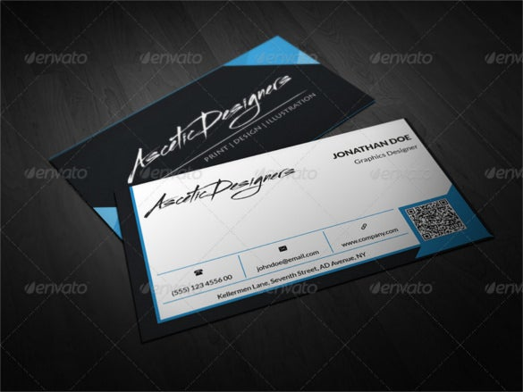 modern cool business card photoshop psd format
