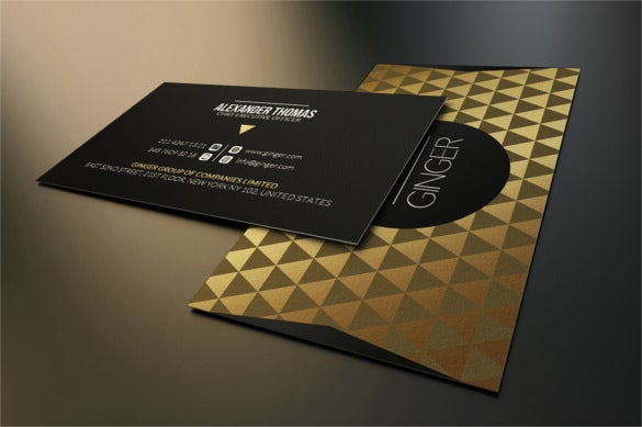 elegant gold and black business card psd download