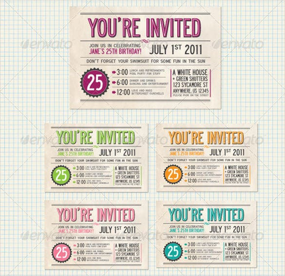 25 postcard birthday invitation templates free sample example simple colourful postcard birthday invitation template stopboris Images