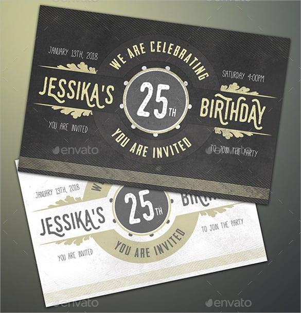 postcard birthday invitation to download