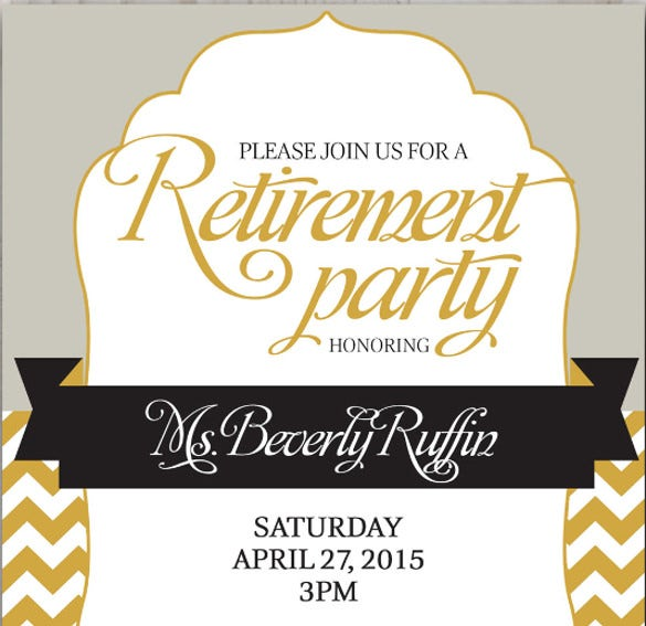 retirement vintage party celebration invitation