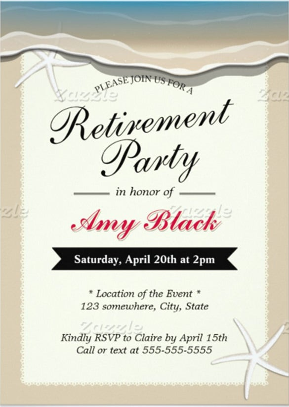 Retirement Invitation Template – 15+ Free Psd, Vector Eps, Ai