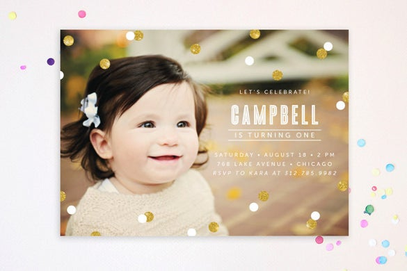postcard birthday invitation template for any age group with custom photograph