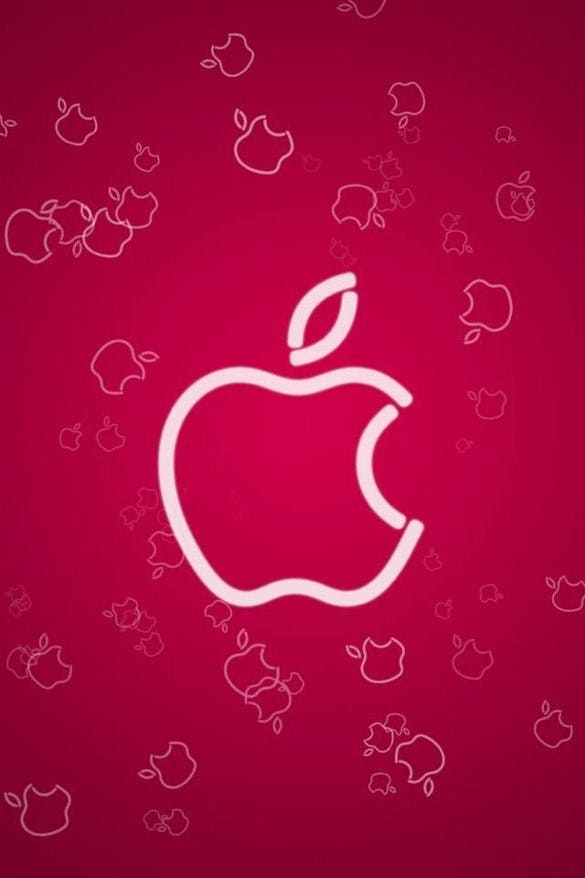 hd cute pink apple iphone 4s wallpaper background