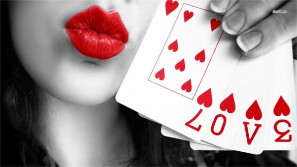 cute love lips for desktop background free download