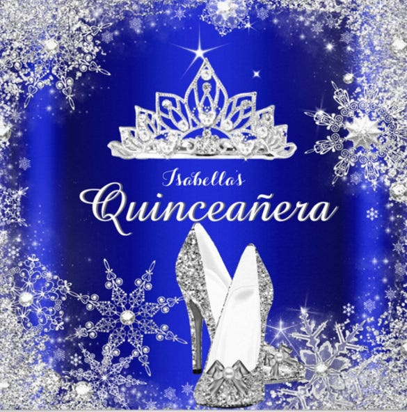 royal blue quinceanera silver tiara 15th birthday