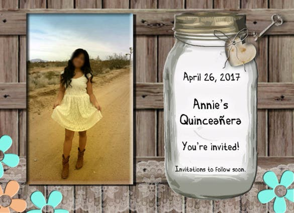 quinceanera or wedding invitation template