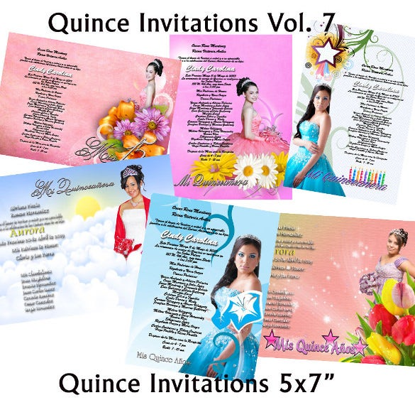 photoshop template for quinceaneras sweet 16 invitations