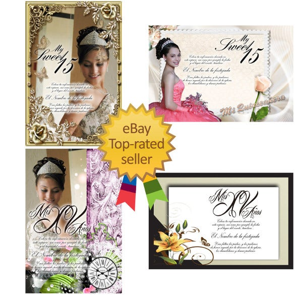 psd photoshop templates for quinceaneras invitations vol