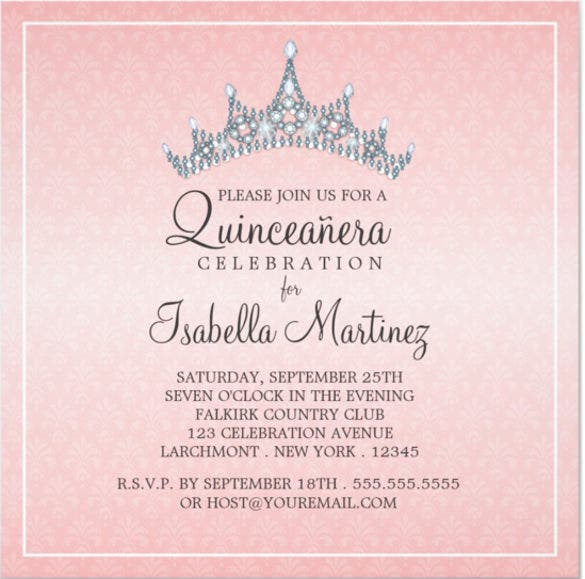 Quinceanera Invitations Template 24 Free PSD Vector EPS AI – 18th Invitation Templates