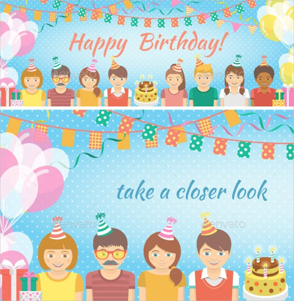 elegant animated kids birthday invitation template
