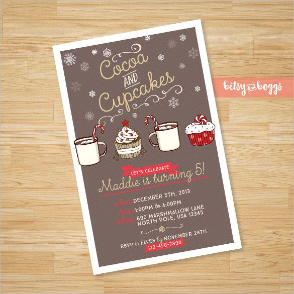 cupcakes theme printable custom kids birthday invitation