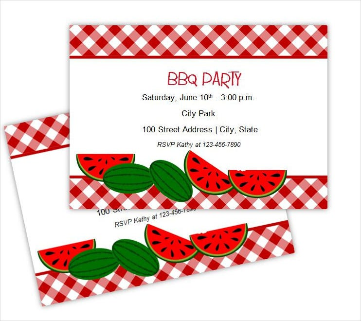 summer bbq party invitations diy printable template