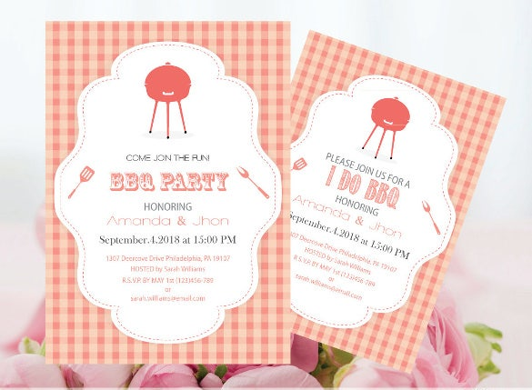 bbq party invitation editable pdf template