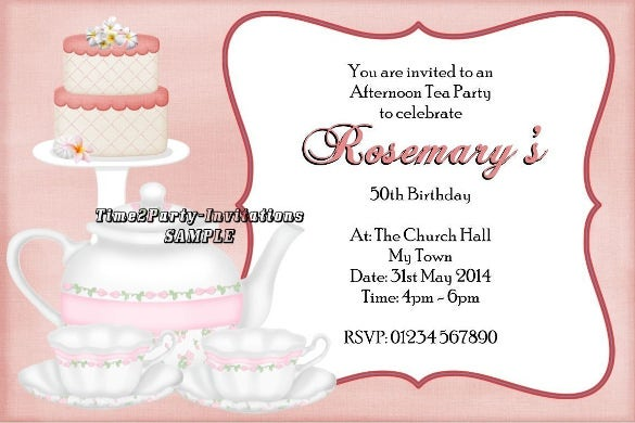 Free Afternoon Tea Invitation Template orderecigsjuiceinfo