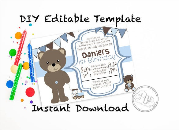 teddy little boy blue – printable – daniel